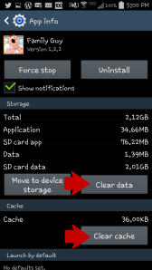 Clear Cache Data