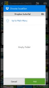 Dropbox empty folder
