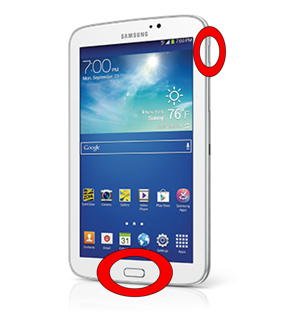 Samsung Tablet Screenshot