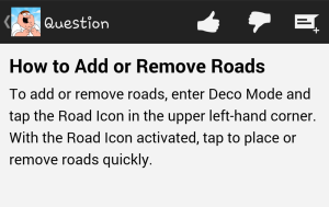 How To Menu Roads