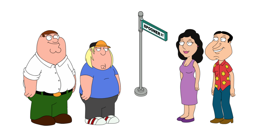 all characters from family guy