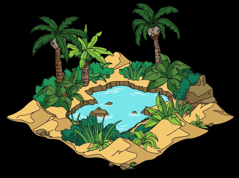desert oasis drawing -#main