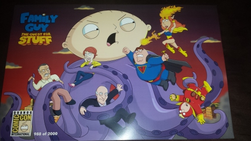 Limited Edition Family Guy: The Quest For Stuff Comic Con poster