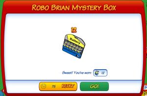 Robo Brian Myster Box 12 Pack Batteries Winner