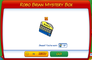 Robo Brian Myster Box 12 Pack Batteries Winner