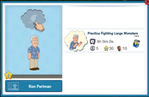 Ron Perlman Practice Fighting Large Monsters