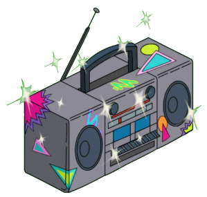 Endless Summer Boom Box Sparkles