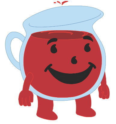 My endless summer kool aid man and cleveland returns for Kool aid man coloring pages