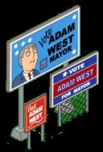 Mayor West Election Sign