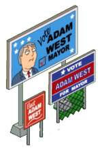 Mayor West Election Sign