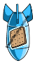Blue Graham Cracker Rocket