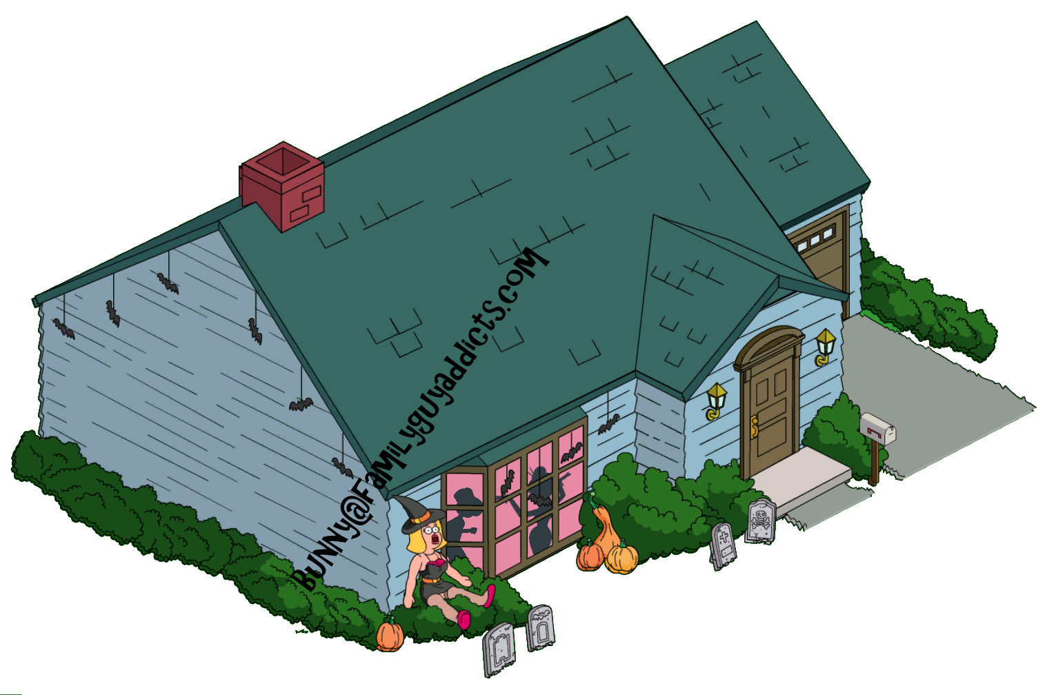 Halloween lawn decorations - Quagmire s house halloween decorations typical glenn blowup doll