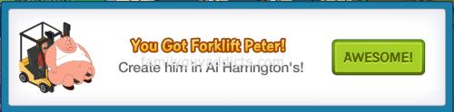 Forklift Peter Won Pop Up