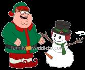 Elf Peter Build Naughty Snowman