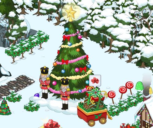 Fancy Gift Box by Tree