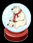 Fluffy Snow Globe