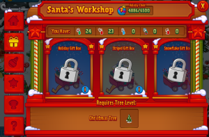 Locked Gift Boxes Santa's Workshop