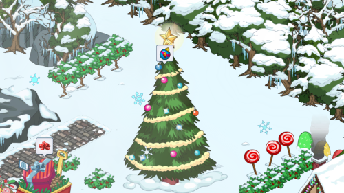 Merry Christmas Tree Area