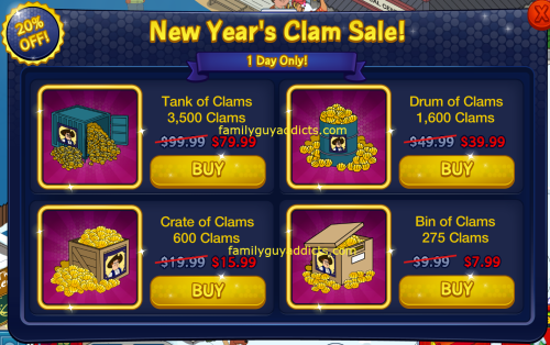 New Year's Clam Sale