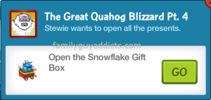 Open a Gift Box The Great Quahog Blizzard Part 4