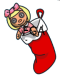 Red Doll Stocking