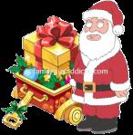 Santa in a Gold Box