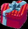 Secret Santa Gift Heart Box