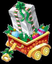 Silver Gift Box in Wagon