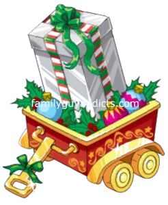 Silver Gift Box in Wagon