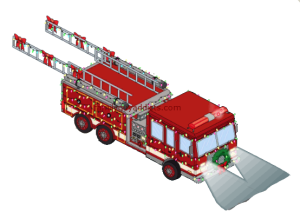 Stewie's Festive Firetruck Tapped