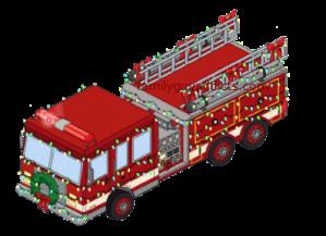 Stewie's Festive Firetruck