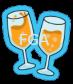 Champagne Glasses Icon