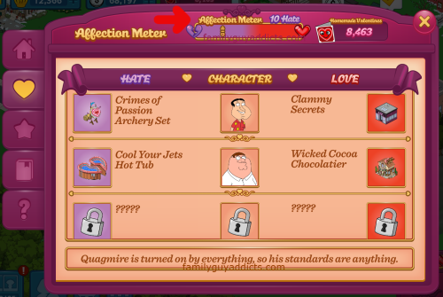 Affection Meter Heart Count