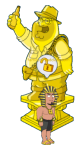 King Butt and Gold Adventure Peter Trophy
