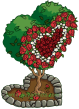 Valentine's Topiary Red