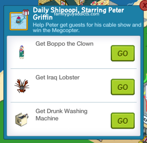 Daily Shipoopi Starring Peter Griffin