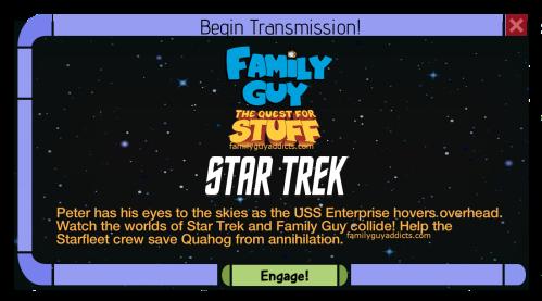 Family Guy The Quest For Stuff Star Trek