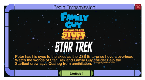 Family Guy The Quest For Stuff Star Trek