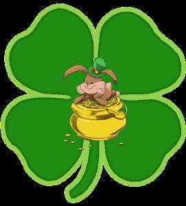 Stuffed Bunny St Patrick