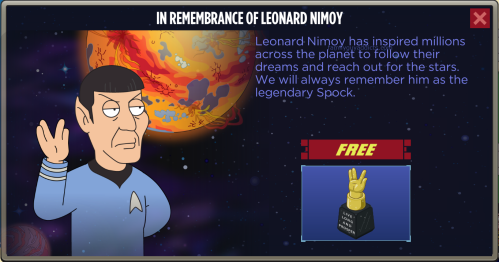 In Rememberance of Leonard Nimoy