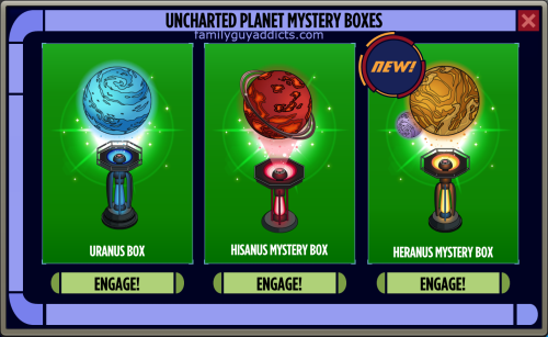 Uncharted Planet Mystery Box Enterprise pop up
