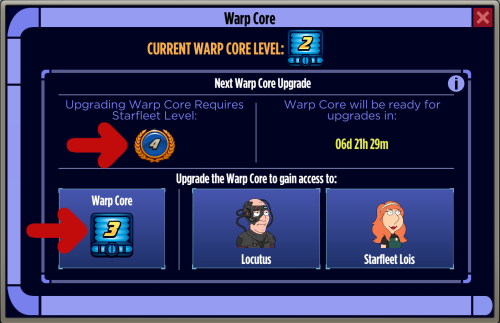 Warp Core Upgrade 3