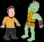 Captain Kirk Fight Gorn