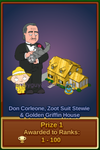 Don Corleone, Zoot Suit Stewie and Gold Griffin House Prize #1