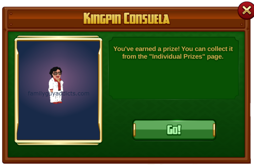 Kingpin Consuela Won In Game Pop Up