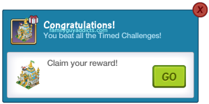 4 Timed Challenges Grand Prize Pop Up