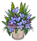 Consolation Wreaths Purple Flower Pot