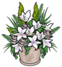 Consolation Wreaths White Flower Pot