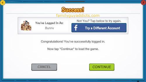 Facebook Log In Success