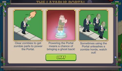 Lazarus Portal i Pop Up